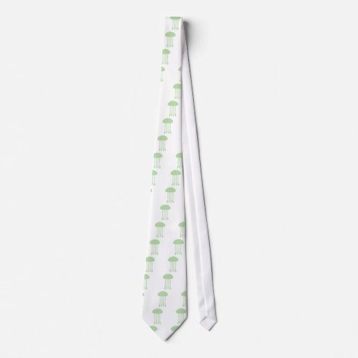 Medusas verdes corbata personalizada