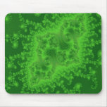 Medusas verdes eléctricas Mousepad Alfombrillas De Ratón