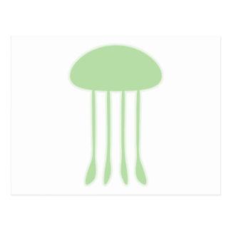 Medusas verdes postal