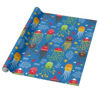Medusas y pulpo papel de regalo