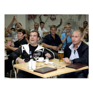 MEdvedev and Putin Party Postcards
