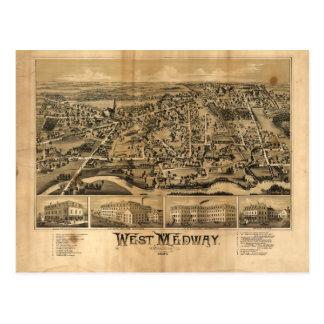 Medway del oeste Massachusetts (1887) Postal