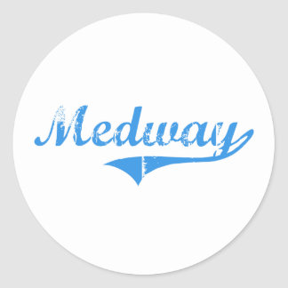 Medway Maine Classic Design Classic Round Sticker