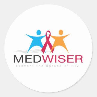 Medwiser Black Classic Round Sticker