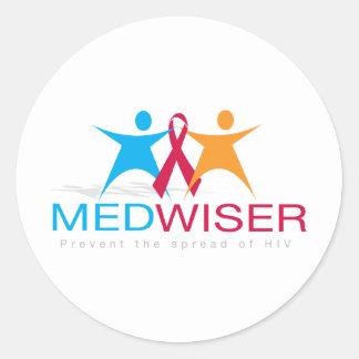 Medwiser Blue Classic Round Sticker