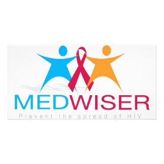 Medwiser Blue Photo Greeting Card