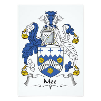 Mee Family Crest Card