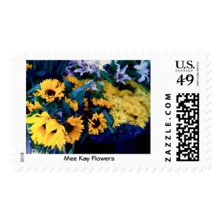 Mee Kay Flowers Postage Stamps