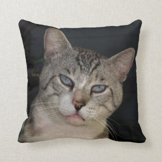 Meece The Cat Throw Pillow