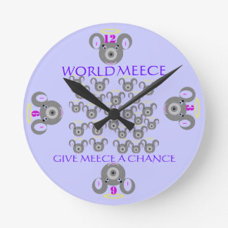 MEECE TIME ROUND CLOCK