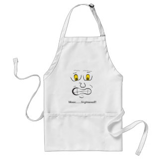 Meee.......frightened!! Adult Apron