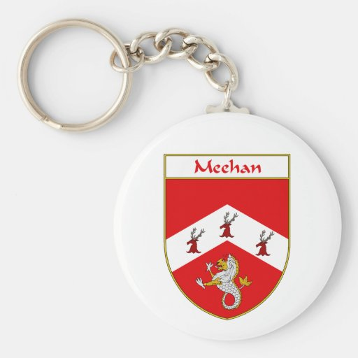 Meehan Coat of Arms Basic Round Button Keychain