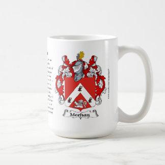 Meehan, el origen, el significado y el escudo taza de café