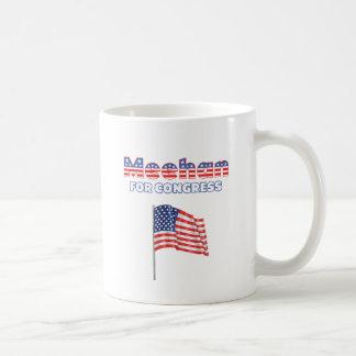 Meehan para la bandera americana patriótica del co taza de café