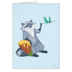 Greeting Card with Meeko & Flit of Pocahontas design