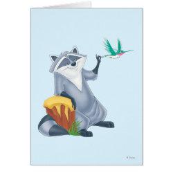 Greeting Card with Meeko & Flit of Pocahontas design
