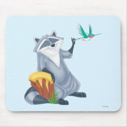 Mousepad with Meeko & Flit of Pocahontas design