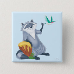 Meeko & Flit of Pocahontas Square Button
