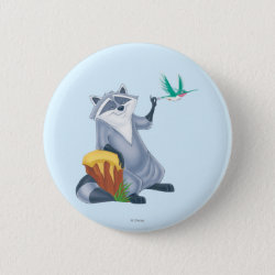Round Button with Meeko & Flit of Pocahontas design