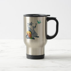 Travel / Commuter Mug with Meeko & Flit of Pocahontas design