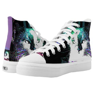 Meeku Pop Art Purple Back High Tops