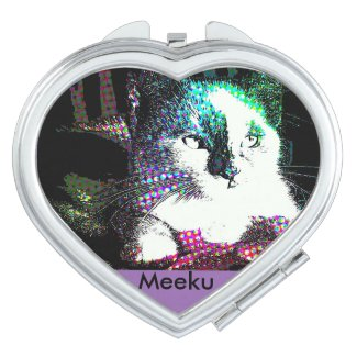 Meeku Pop Art Purple Heart Mirror