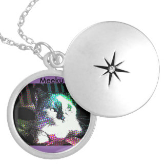 Meeku Pop Art Purple Heart Pendant