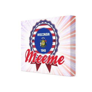 Meeme, WI Gallery Wrapped Canvas