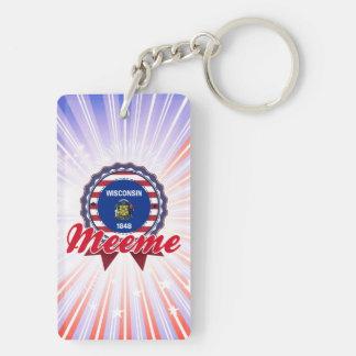 Meeme, WI Rectangular Acrylic Keychain