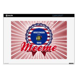 """Meeme, WI 15"""" Laptop Decal"""