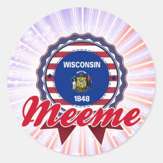 Meeme, WI Round Sticker