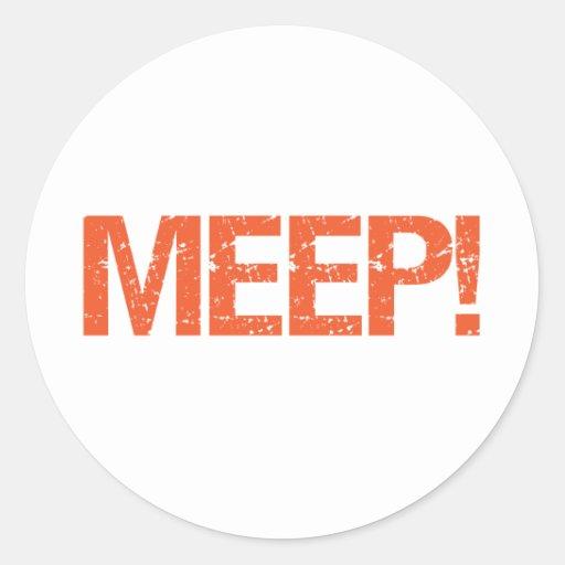 Meep Classic Round Sticker