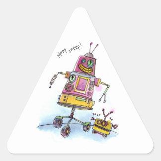 Meep Meep Triangle Sticker