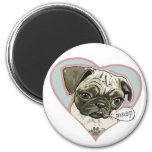 Meeping Pug Puppy by Mudge Studios 2 Inch Round Magnet