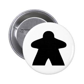 Meeple Button Pin Redondo De 2 Pulgadas