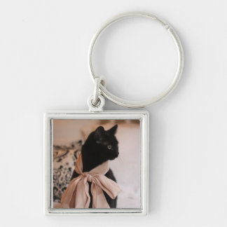 Meeps, the Chic Chat Noir II Keychain