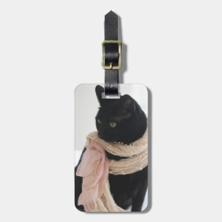Meeps, the Chic Chat Noir II Luggage Tag