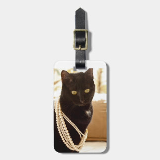 Meeps, the Chic Chat Noir III Travel Bag Tags