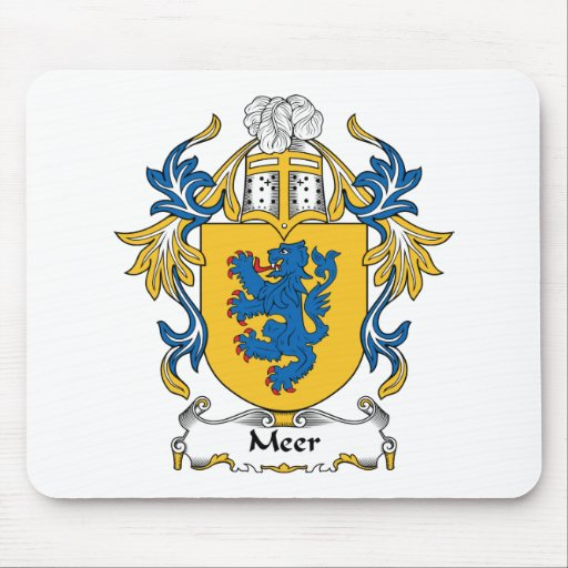 Meer Family Crest Mouse Pad