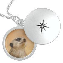 Meerkat_001 Locket Necklace