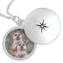 Meerkat_002 Locket Necklace