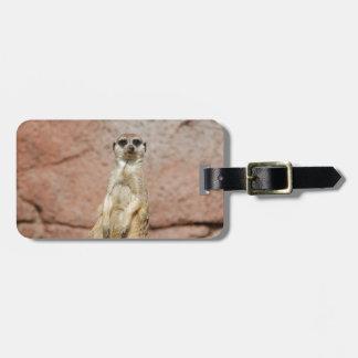 Meerkat Africa Animal Country Pet Cute Animal Bag Tag