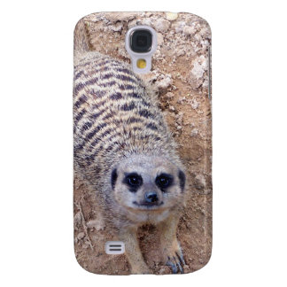 Meerkat against clay looking up photograph galaxy s4 case