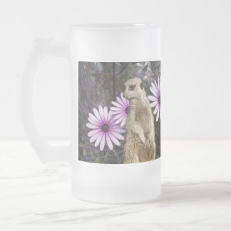 Meerkat_And_Daisies,_Big_Frosted_Glass_Beer_Mug. Frosted Glass Beer Mug