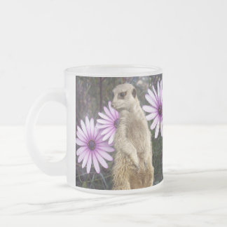 Meerkat_And_Daisies,_Frosted_Beer_Coffee_Mug. Frosted Glass Coffee Mug