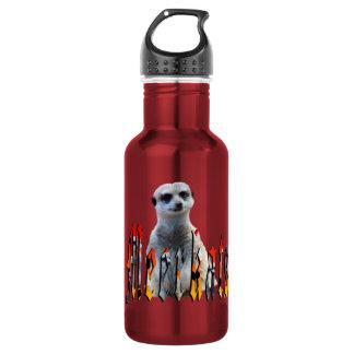 Meerkat And Meerkat Logo Red Reusable Bottle. Water Bottle