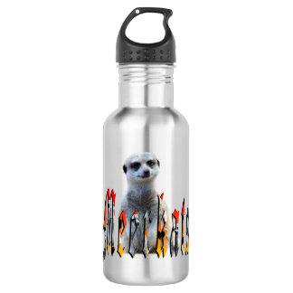 Meerkat And Meerkat Logo Reusable Water Bottle. Water Bottle