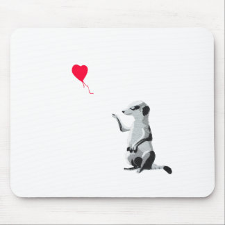 Meerkat and the red balloon mouse pad