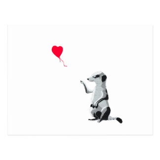 Meerkat and the red balloon postcard