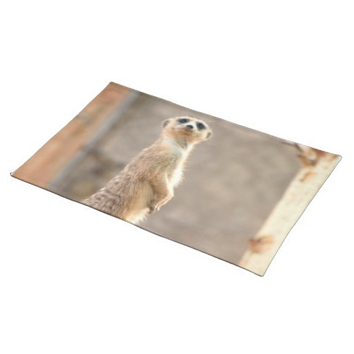 Meerkat at Attention Placemat Cloth Placemat